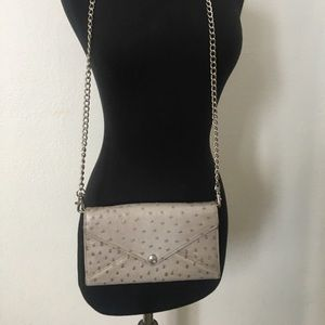 Rebecca Minkoff textured removable chain wallet